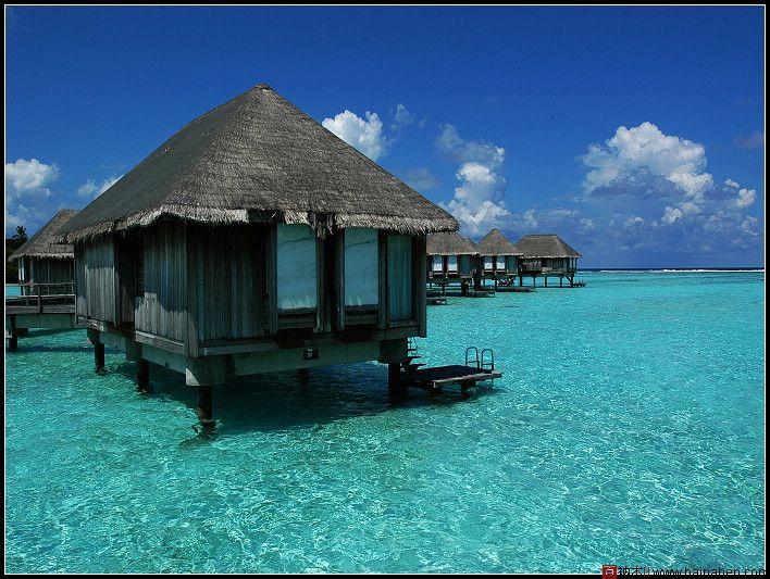 风景类摄影_马尔代夫卡尼岛水上屋