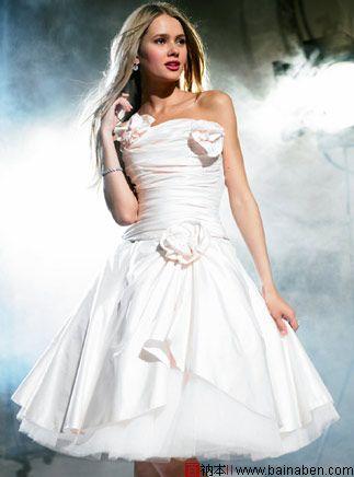 简洁婚纱,也可以风情万种