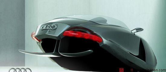鲨鱼造型的奥迪未来概念车audi shark