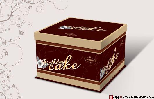 蛋糕盒包装欣赏-百衲本视觉