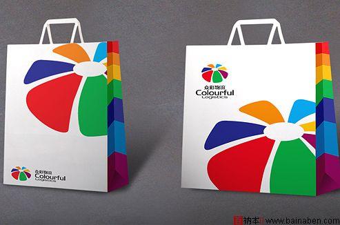 物流公司手提袋设计欣赏-百衲本视觉