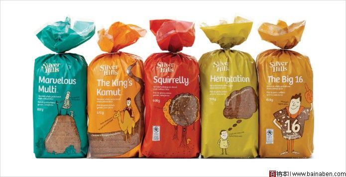 国外面包包装袋设计_Karacters Silver hills面包包装袋设计-百衲本,百衲本视觉,企划,策划