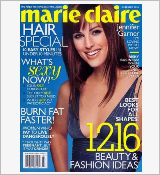 国外时尚杂志marie claire封面设计欣赏-百衲本,视觉