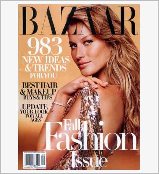 国外时尚杂志harper bazaar封面设计欣赏