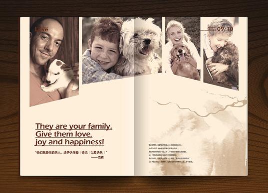 宠物连锁宠物食品鲁宾舍品牌画册设计欣赏